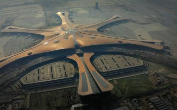 Крупнейший в мире аэропорт Дасин, похожий на морскую звезду открылся в Пекине
