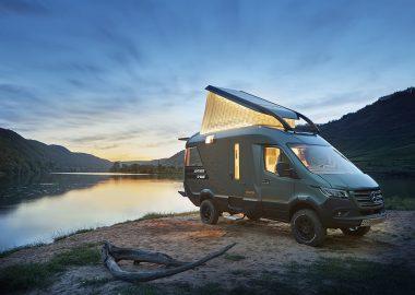 Этот концептуальный туристический фургон предлагает роскошь внедорожной жизни