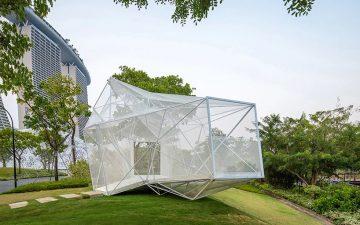 В сингапурских садах у залива появился изящный 3D-печатный павильон