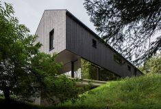 В лесах австрийских Альп появился элегантный сборный дом
