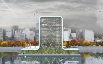 Waterstudio представляет первый в мире плавучий небоскреб