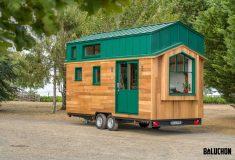 Компактный домик от Baluchon подходит для домашнего офиса или комнаты гостей