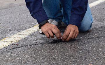 Новое дорожное покрытие из переработанных шин, которое может само восстанавливаться в дождь