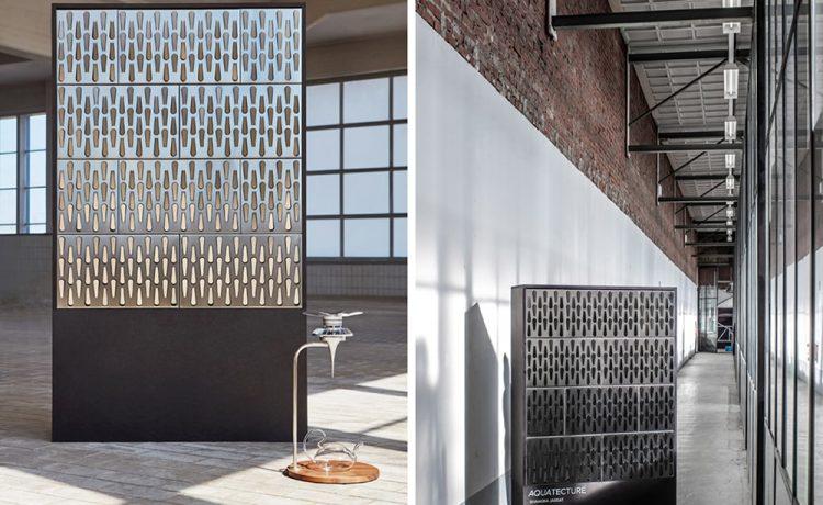 Модульные панели Aquatecture могут собирать дождевую воду со стен зданий