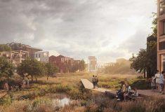 Хеннинг Ларсен представил проект жилого района с деревянными небоскребами