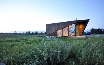 Мобильный мини-дом с оригинальным фасадом построен в Нидерландах