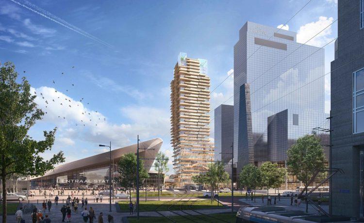Гибридный деревянный небоскреб будет построен в Нидерландах