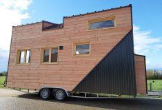 Новый крошечный дом на колесах Sébastien: просторный и легкий