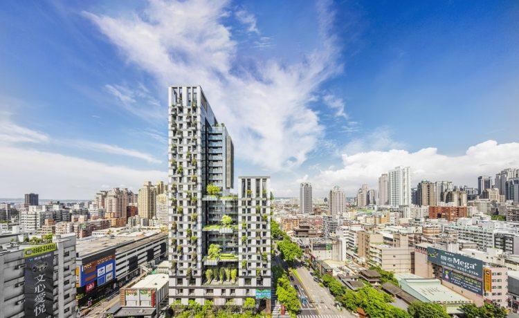 В Тайчжуне построены жилые небоскребы с небесными садами