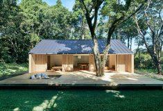 В Японии представлен новый сборный дом, совмещающий жизнь в помещении и на улице