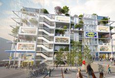 Ikea планирует открыть гипер-маркет, покрытый растительностью и без парковки