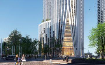 Компания KPF представила проект энергоэффективного небоскреба для набережной Бостона
