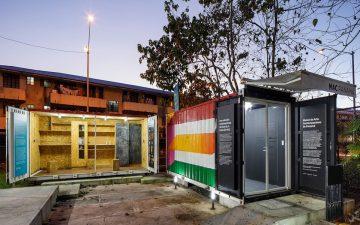 Музей-экспедиция из транспортных контейнеров демонстрирует современное искусство в Панаме