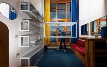 «Летающий столик» для микро-квартир: больше жилого пространства между приемами пищи