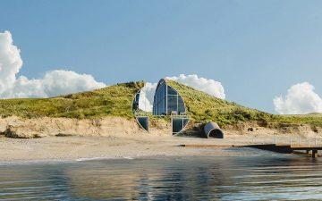 Пляжный домик Dune House использует энергию солнца и ветра для самообеспечения