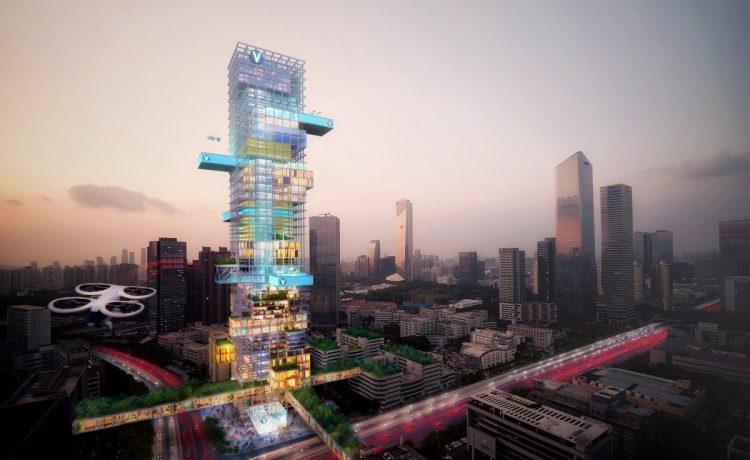 MVRDV и Airbus представили свое видение городов будущего
