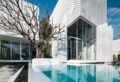 Устойчивый дом Shade House помогает бороться с загрязнением воздуха