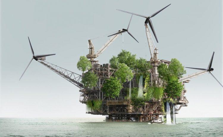 Проект X_Lands: морские нефтяные платформы превращаются в самодостаточные дома
