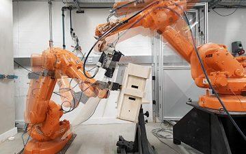Модульный офис, студия или детская комната: что могут построить из блоков несколько роботов