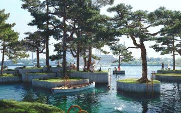 В Копенгагене откроется необычный плавучий парк