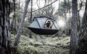 Надувная экзо-палатка как альтернатива домику на дереве