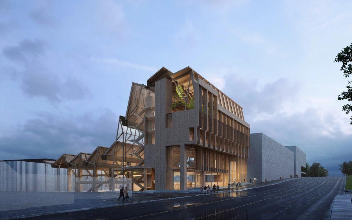 Здание колледжа от Grafton Architects подчеркивает универсальность древесины