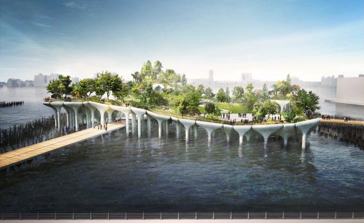 На реке Гудзон в Нью-Йорке построен новый парк на сваях