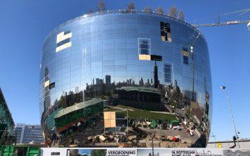 Зеркальный художественный музейный склад от MVRDV с общественным садом на крыше