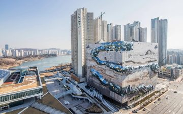 Мультифактурное остекление украшает новый супермаркет в Южной Корее