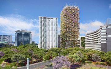 Более 30 тысяч растений будут расти в 115-метровом деревянном небоскребе