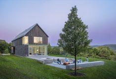 Современный фермерский дом в Вермонте: красивый, большой и с нулевым энергопотреблением