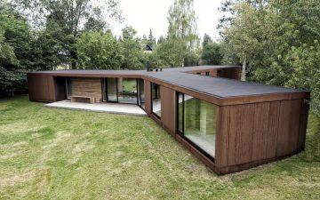Сборный дом в Дании был построен из CLT-панелей всего за 3 дня