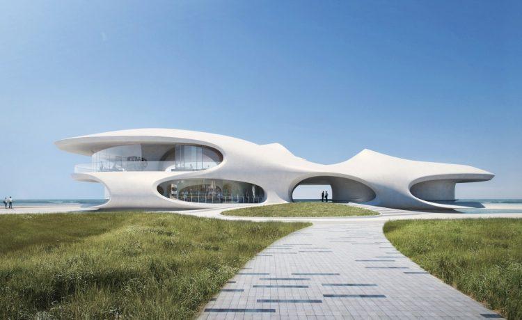 «Инопланетная» библиотека со странными окнами и видом на Южно-Китайское море