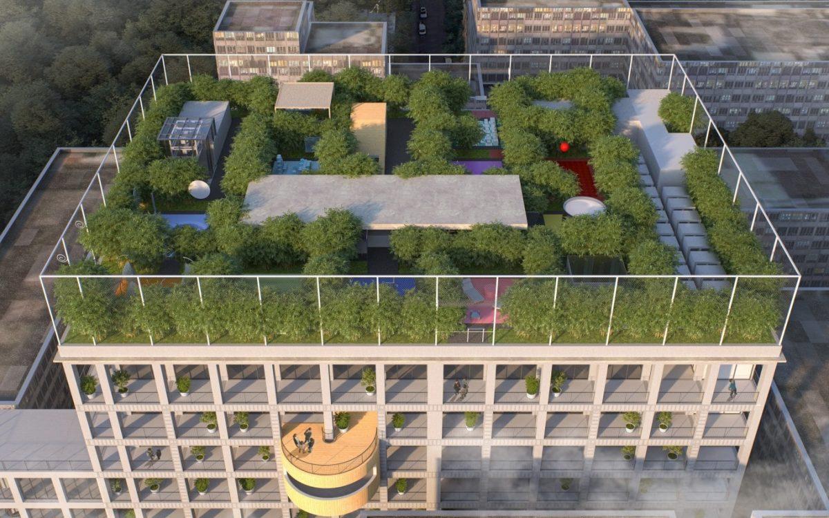 MVRDV превратит старую фабрику в современное офисное здание с садом на крыше