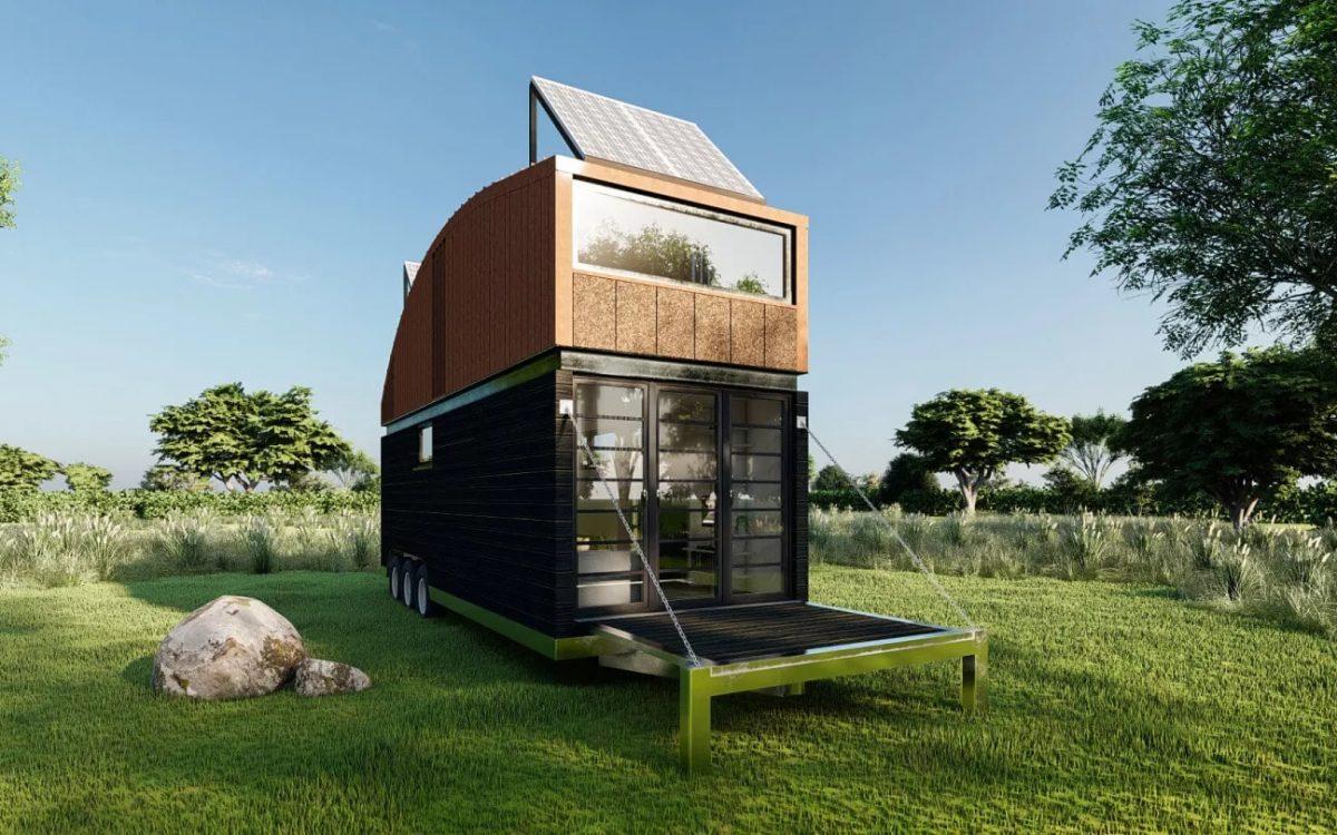 В крошечном доме Natura есть дополнительный этаж со спальней