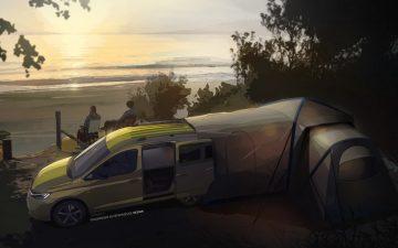 Новый автофургон Volkswagen расширяется в «домик для глэмпинга»