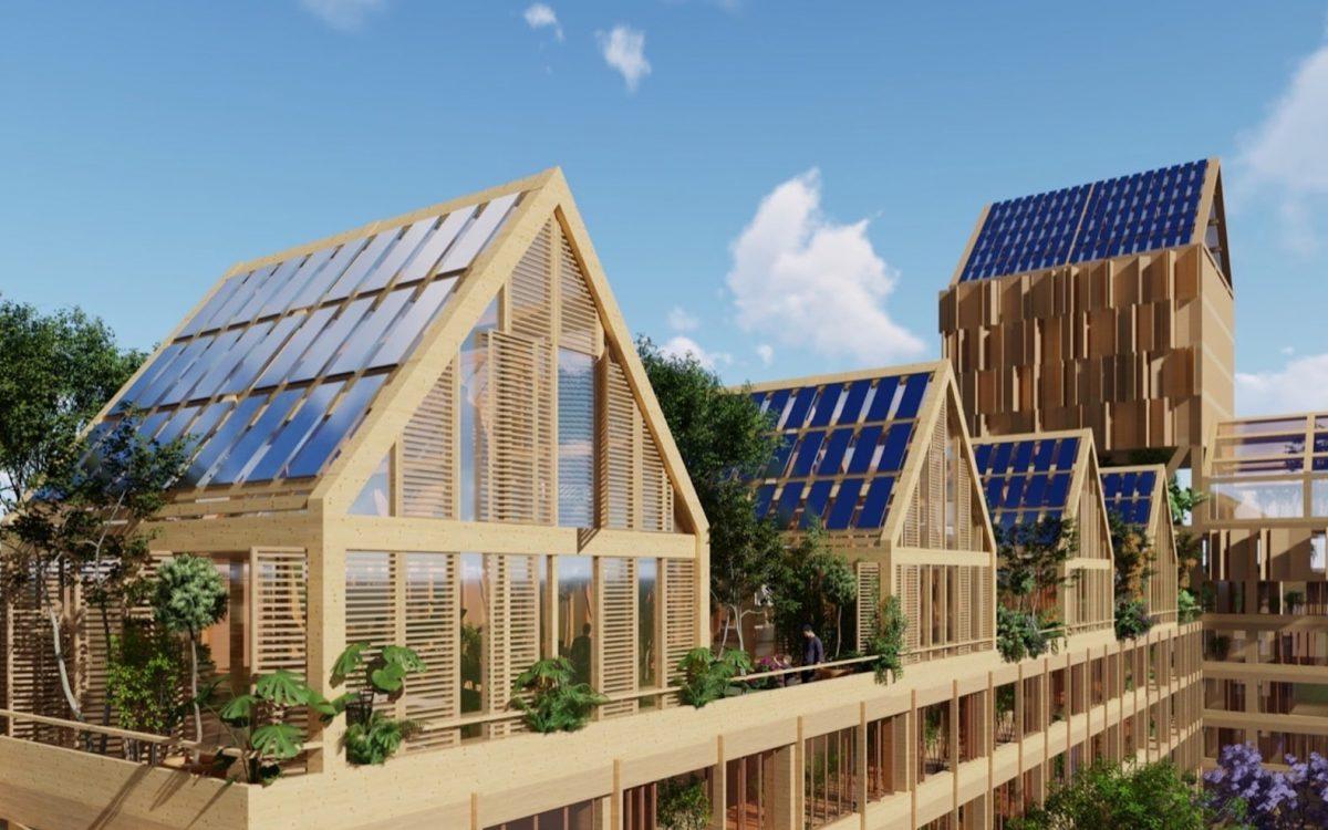 Проект самодостаточного жилого комплекса для нового района в Китае