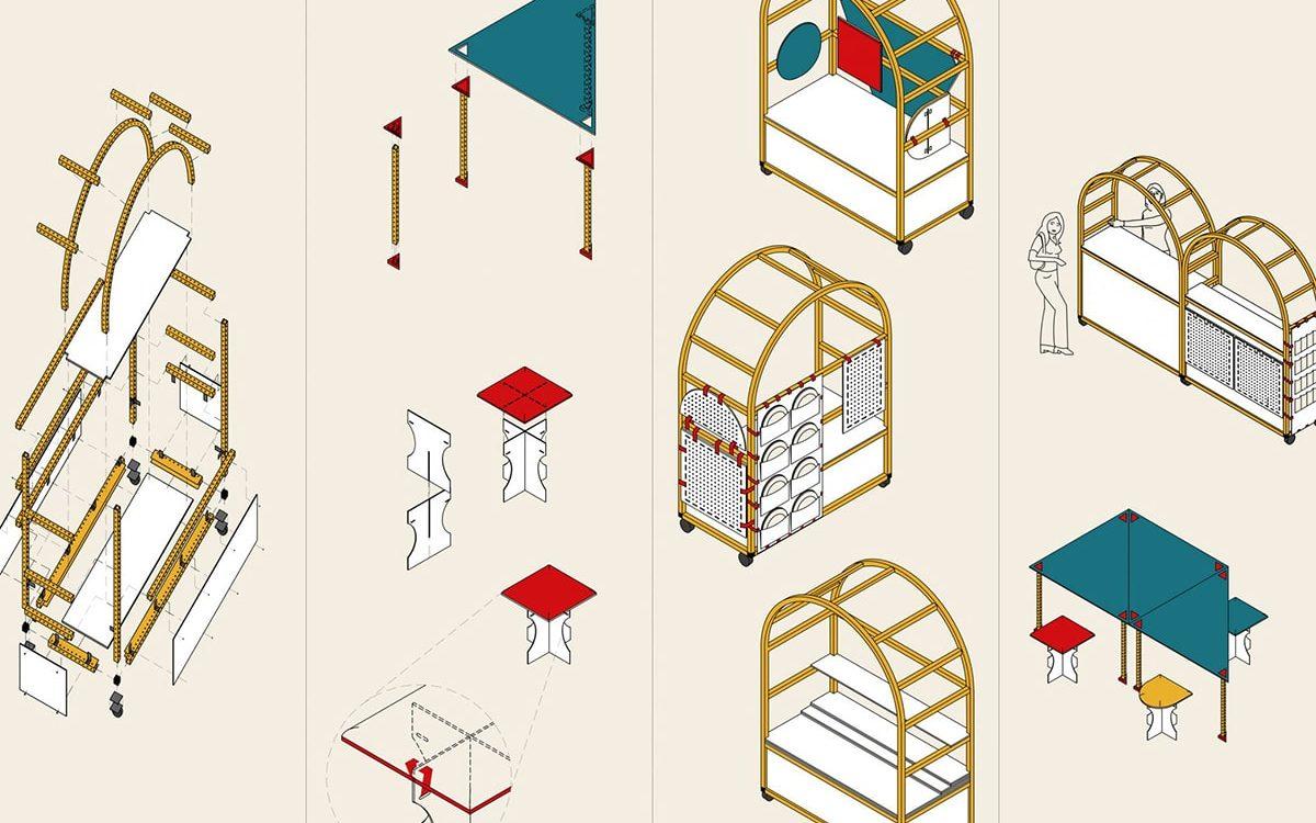 Дизайнеры разработали портативные общественные кухни для беженцев