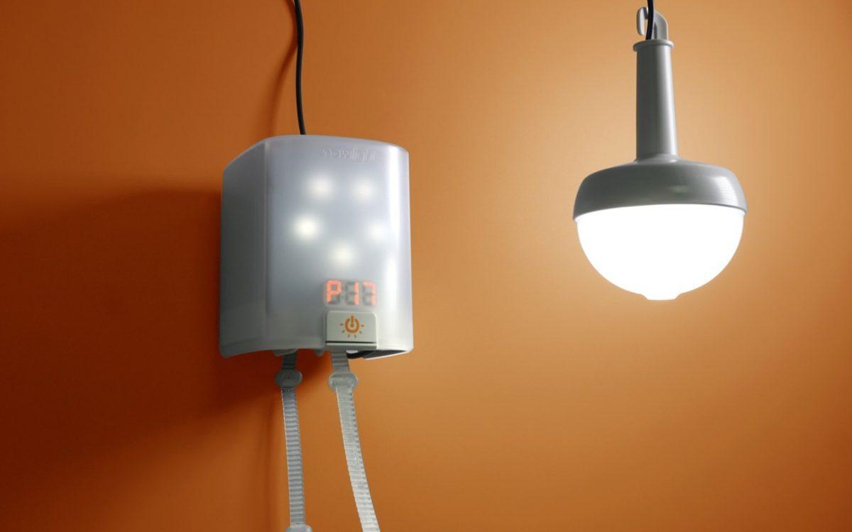 NowLight: автономный светильник с ручным приводом