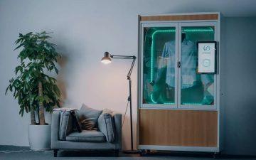 Presso: портативное устройство для чистки, сушки и обеззараживания одежды