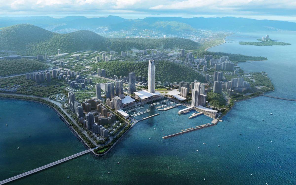 Набережную в Китае с самым большим небоскребом построят в 2022 году