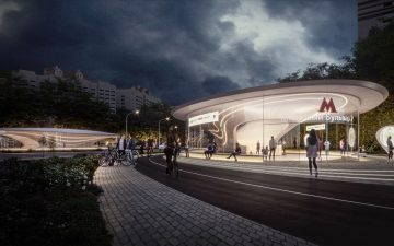 Zaha Hadid Architects представила проект станции метро в Москве
