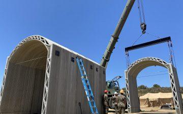 Морские пехотинцы США используют 3D-печать для создания бетонных конструкций в Кэмп-Пендлтоне