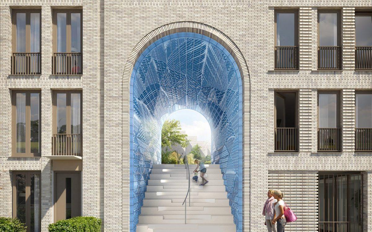 Керамическая плитка для облицовки арки жилого дома в Дельфте будет напечатана на 3D-принтере