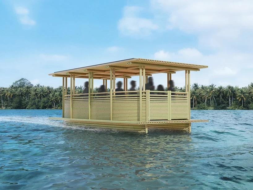«Hari Pontoon»: недорогой бамбуковый прогулочный катер на солнечной энергии