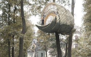 Модульные домики на дереве похожи на осиные гнезда