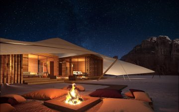 AW2 представила проект палаточного курорта в пустыне Аль-Ула в Саудовской Аравии