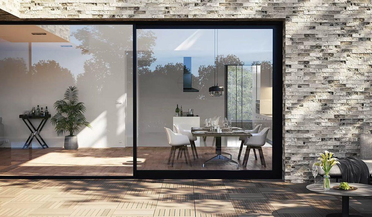 Система раздвижных окон в минималистском стиле от Reynaers Aluminium