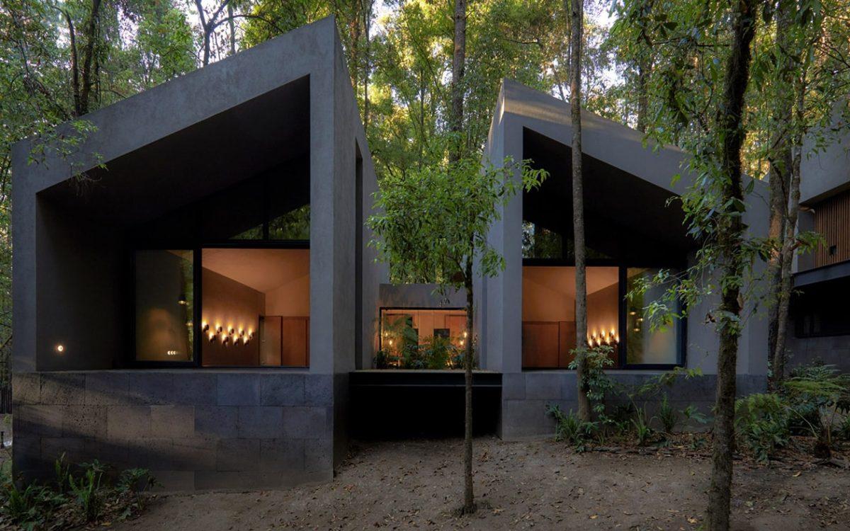 San Simon Cabins: комплекс коттеджей из вулканической породы