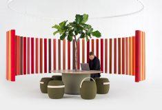Soundsticks: звукопоглощающие подвесные перегородки из переработанного текстиля